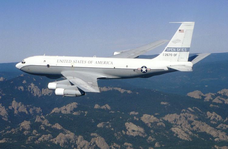 Photo: A USAF Boeing OC-135B Open Skies. Source: Wikimedia Commons.