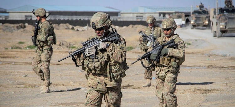 Photo: U.S. Soldiers with Forward Support Company, 65th Engineer Battalion conduct a presence patrol March 26, 2014, in Kandahar province, Afghanistan. Credit: Defense.com