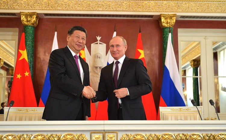 Photo: Xi Jinping and Vladimir Putin on June 5, 2019, The Kremlin, Moscow. Credit: en.kremlin.ru Moscow.